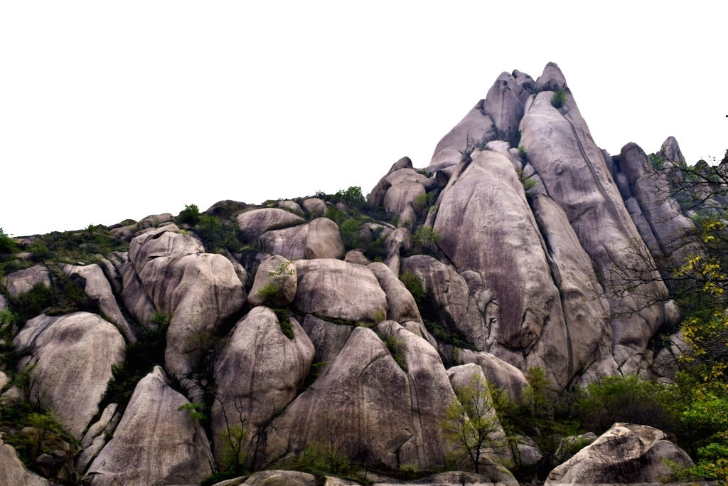 Boulder vector rock formation. Stone mountain photography tourism