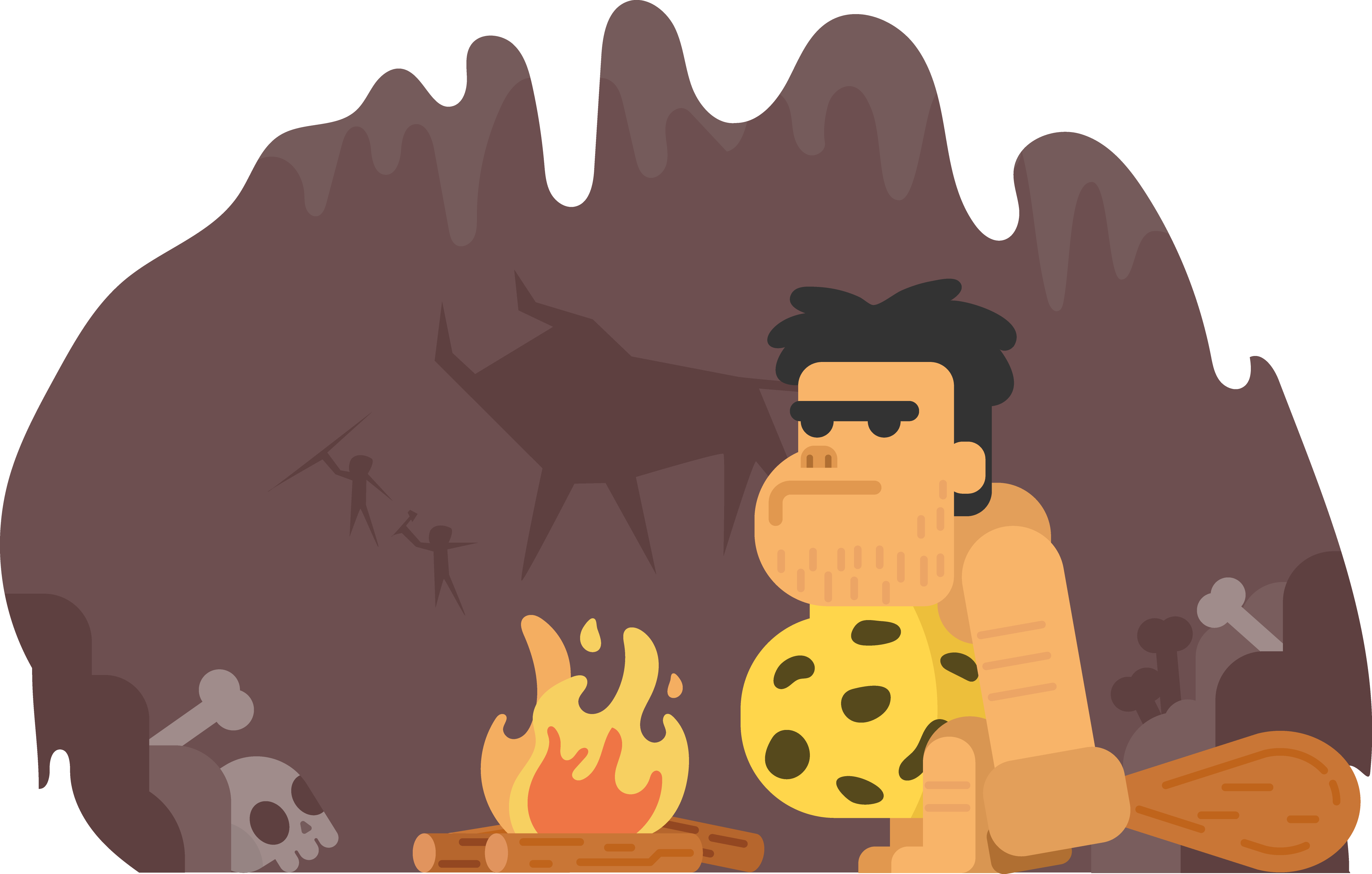 Stone png cartoon. Age the cave boy
