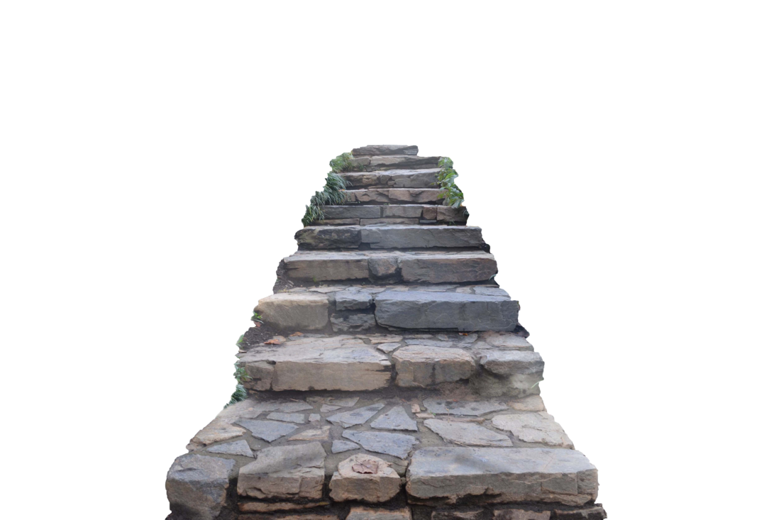 Stone stairs png. Staircase stock photo by