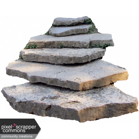 Stone steps png. Graphic by nichole kidd