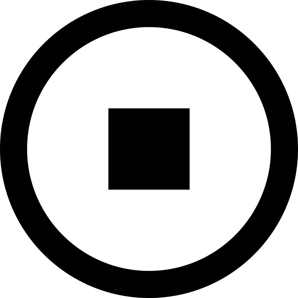 Stop button png. Circular symbol svg icon