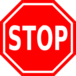 Stop clipart cartoon. Sign