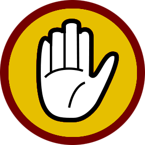 Stop hand png. File caution wikipedia stophandcautionpng