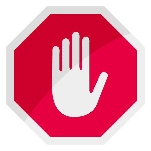 Sign icon hand transparent. Stop vector vector free library