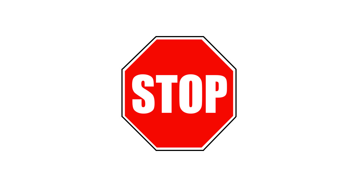 Stop vector. Free download of sign