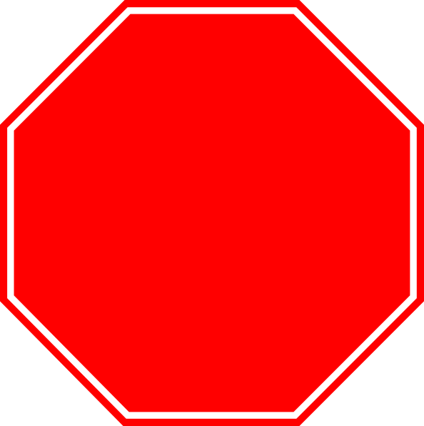 Blank sign free icons. Stop vector png clipart free library