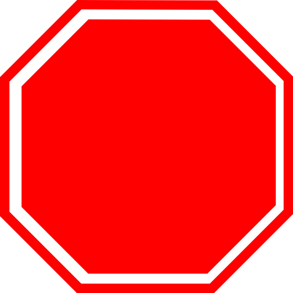 Stop vector. Free sign clip art