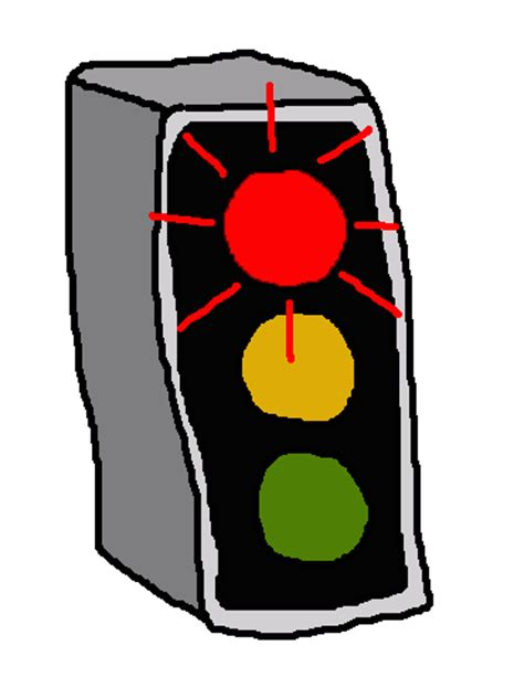 Traffic clipart animated. Stop light lighting red