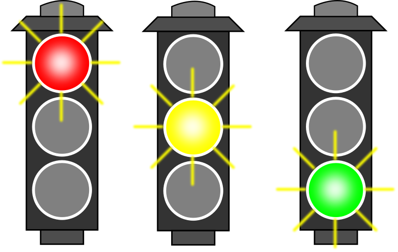 Stoplight clipart car light. The evolution of traffic