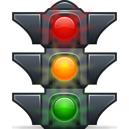 stoplight clipart light post