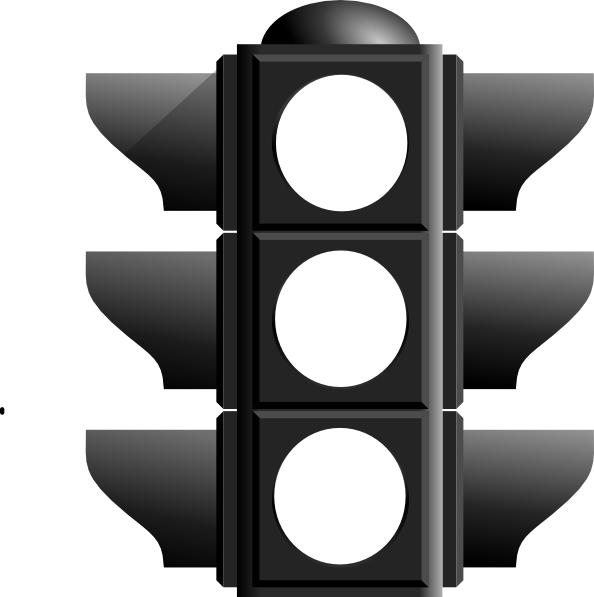 Traffic clipart black and white. Free stoplight image download