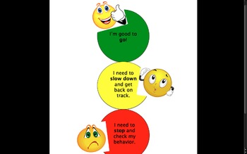 Stoplight clipart printable. Traffic light behavior chart