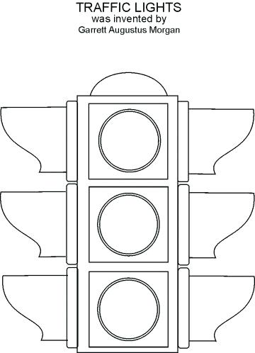 Stoplight clipart printable. Traffic light coloring page