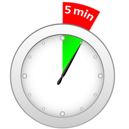 stopwatch clipart 5 minute