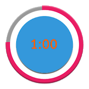 Transparent stopwatch 1 minute. Timer apps on