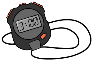 Stopwatch transparent 3 minute. Email automatic timer for