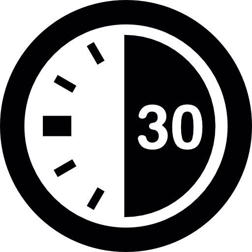 seconds on a. Stopwatch transparent 30 minute clipart free stock