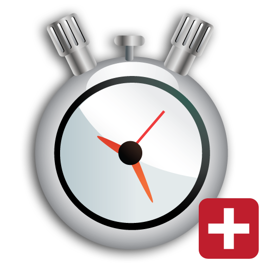 Transparent timer stopwatch. Timers paid