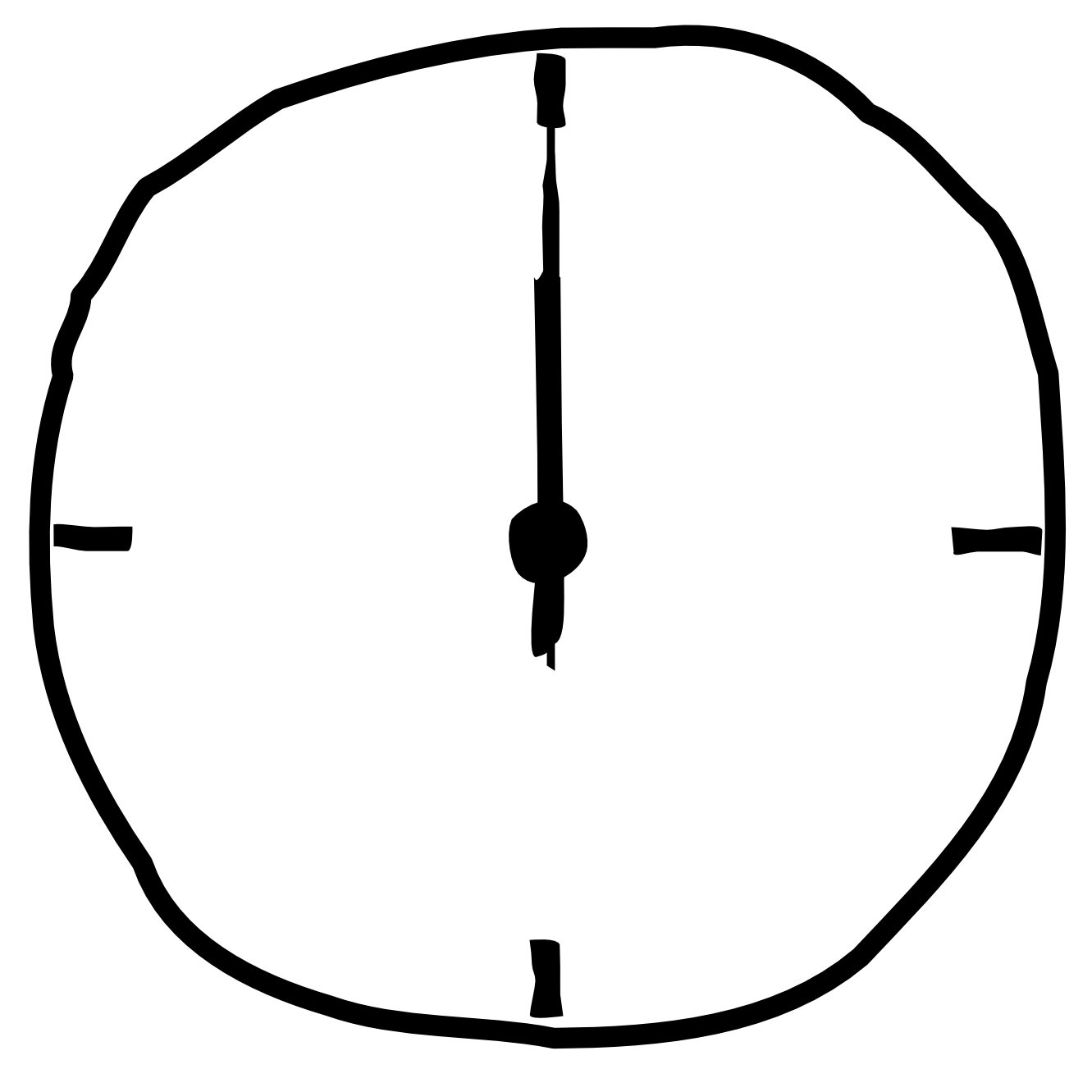Transparent stopwatch blank. Png black and