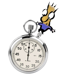 Stopwatch transparent magic. Is the four hour