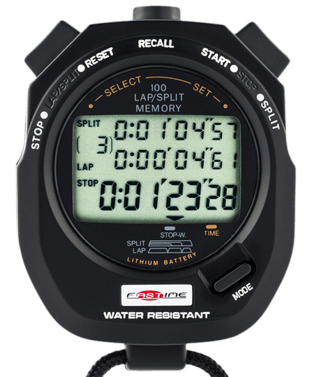 Transparent stopwatch racing. Time out stopwatches lap