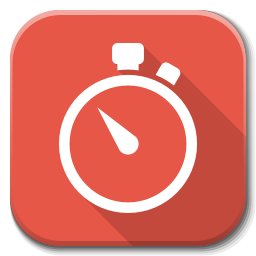 Stopwatch transparent red. Apps icon flatwoken iconset