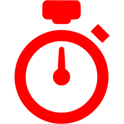 Transparent stopwatch red. Icon free icons