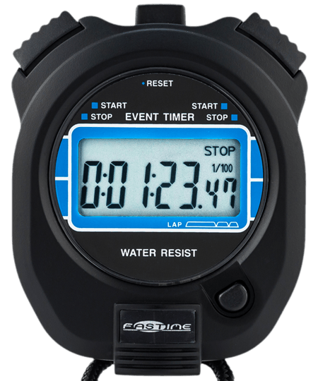 Stopwatch transparent 3 minute. Fastime scientific professional quality
