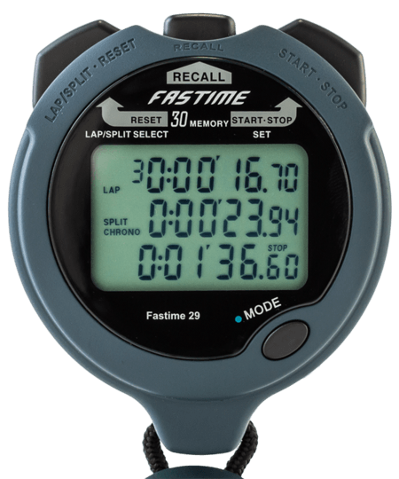 Stopwatch transparent sport. Fastime team professional lap