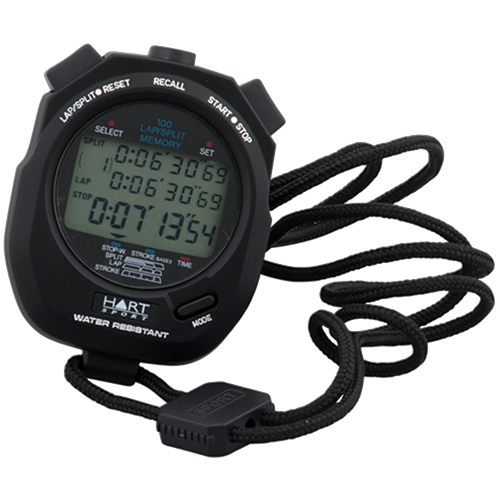 Stopwatch transparent sport. Athletic timer hart sports