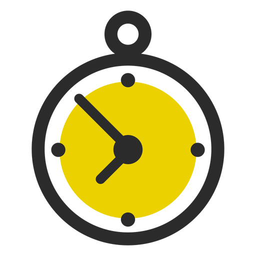 Stopwatch transparent sport. Colored stroke icon icons