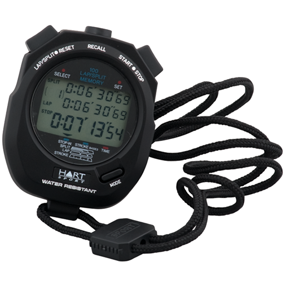 Stopwatch transparent sport. Stopwatches for athletics hart