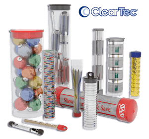 Transparent packaging clear sleeve. Cleartec plastic tubes mailing