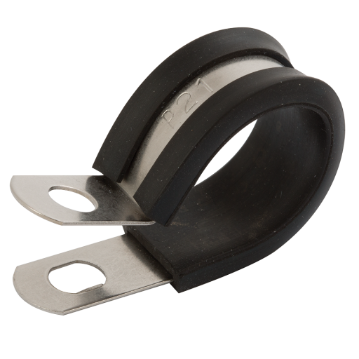 Storage clip stainless steel. Epdm liner mm p
