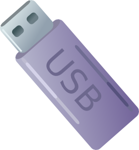 Storage clip. Usb thumbdrive flash memory