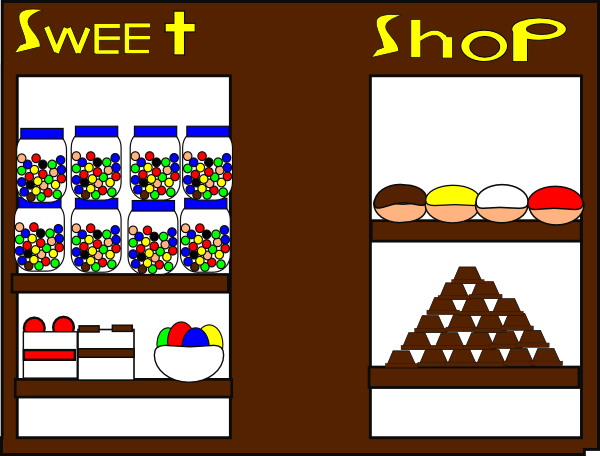 Store clipart animated. The sweet shop clip
