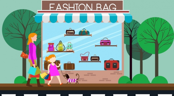Store clipart bag store. Fashion bags free vector