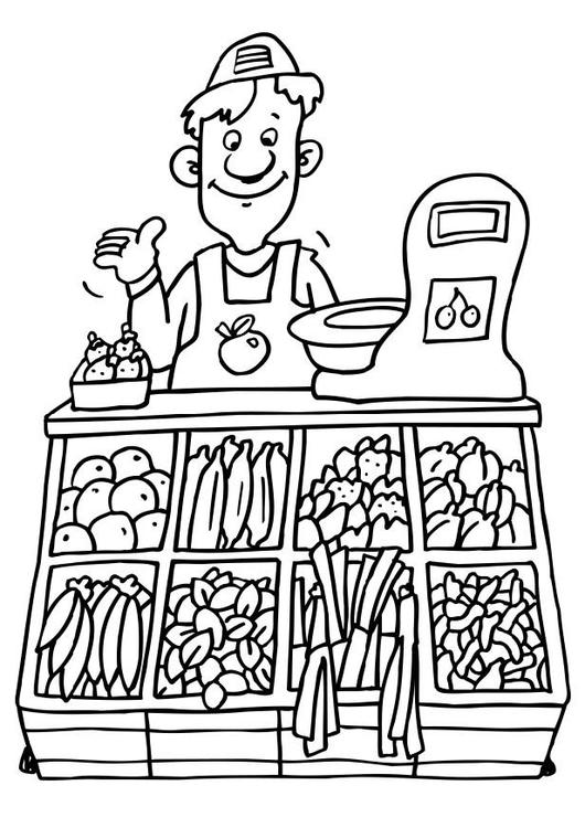 Store clipart green grocer. Shops vocabulary with pictures