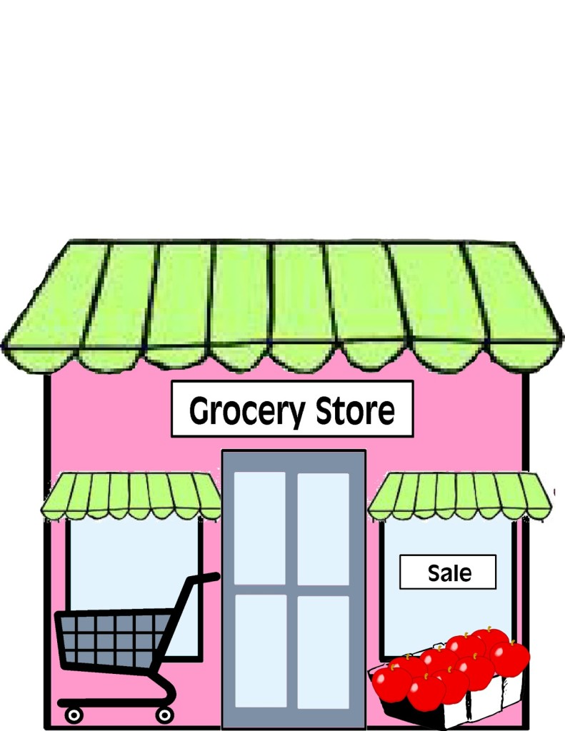 Store clipart green grocer. Clip art grocery cart