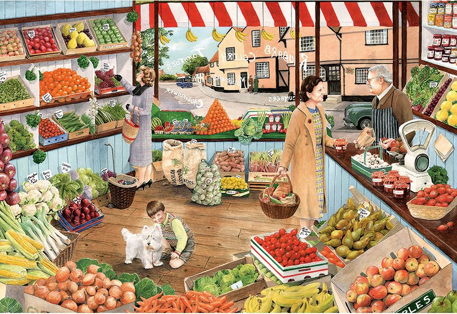 Store clipart green grocer. The by tracy hall