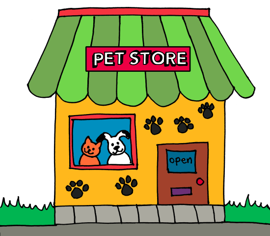 storefront clipart illustrated