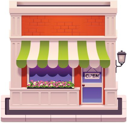 Storefront clipart. Google search murals and