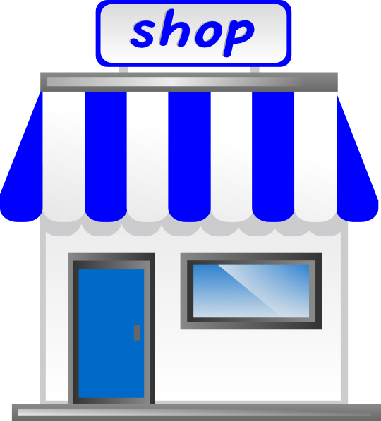 Storefront clipart gift shop. With awning clip art