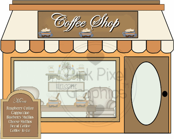 Storefront clipart gift shop. Clip art coffee