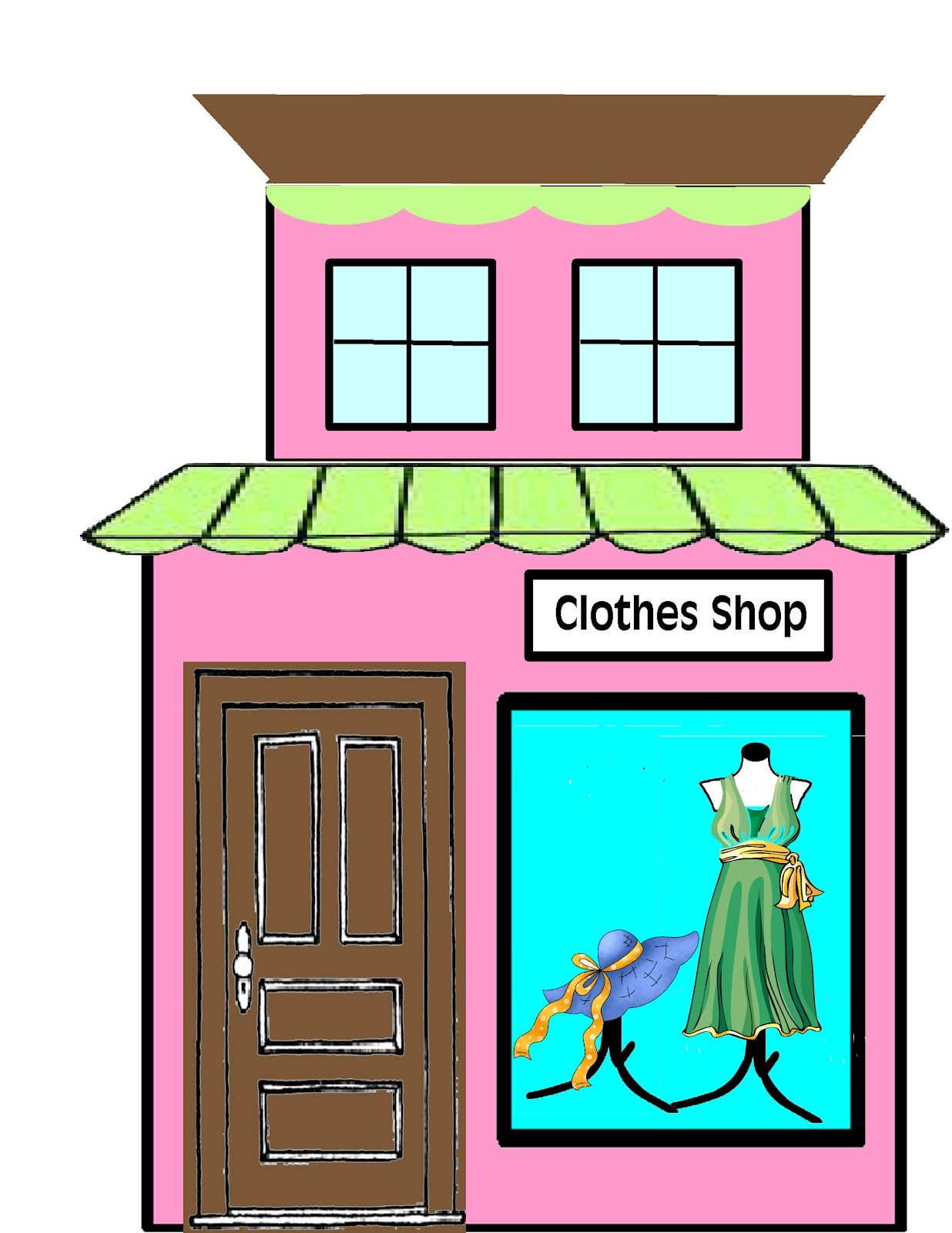 Storefront clipart gift shop. Grocery at getdrawings com