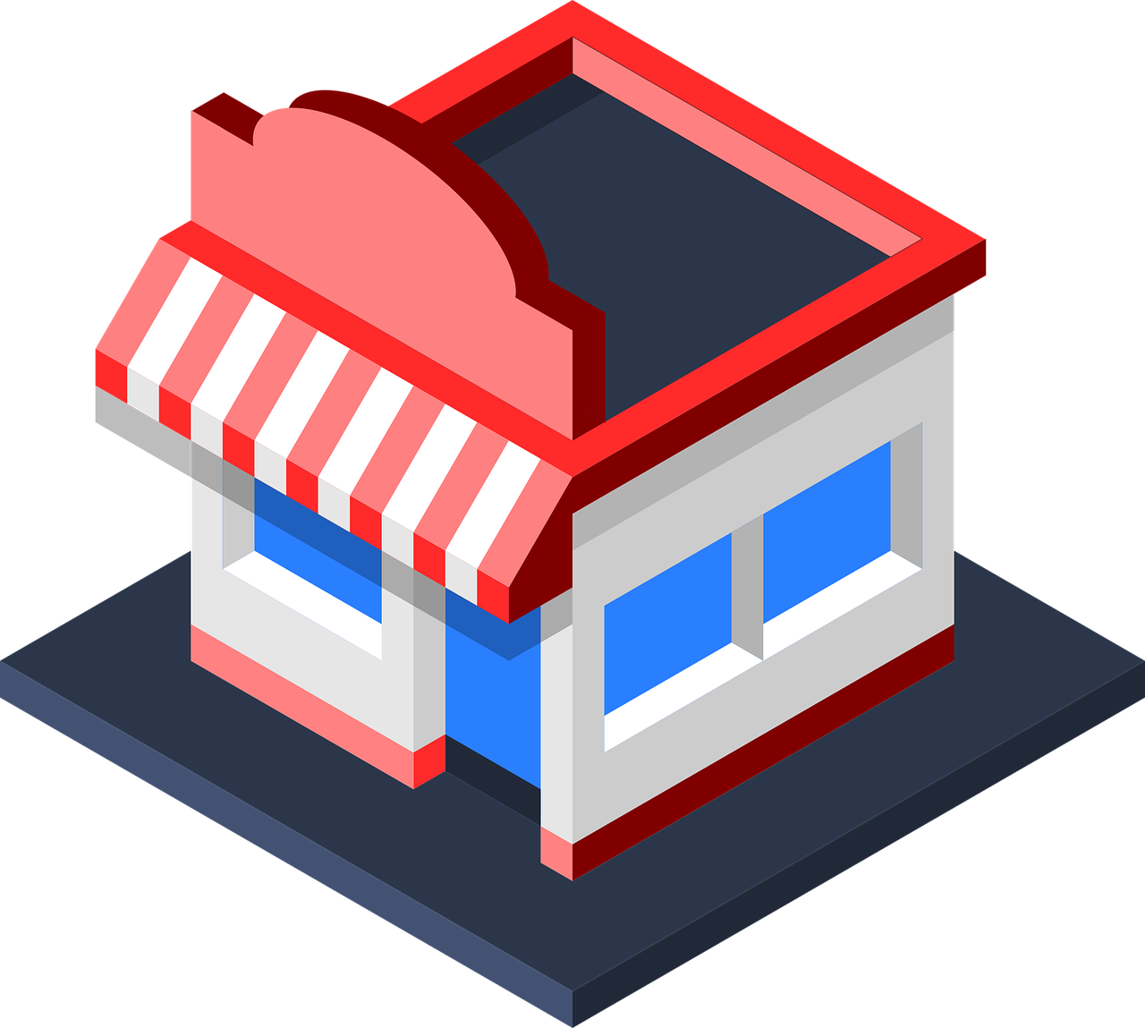 Storefront clipart illustrated. Ebay business strategy a