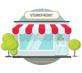 Storefront clipart illustrated. Reviewtrackers measure the customer