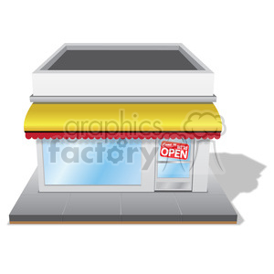 Storefront clipart illustrated. Royalty free with yellow