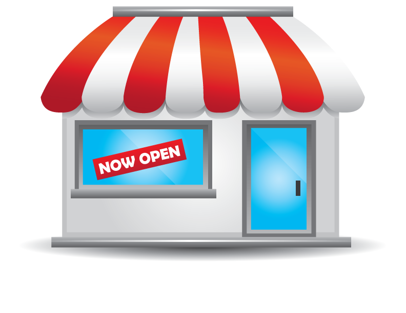 Storefront vector animated. Clipart