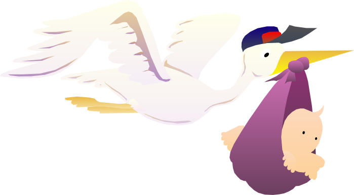 Stork vector baby. Clipart free graphics of